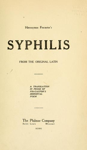 Download Hieronymus Fracastor's Syphilis