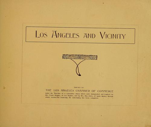 Los Angeles and vicinity…