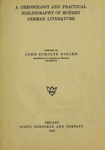 Download A chronology and practical bibliography of modern German literature