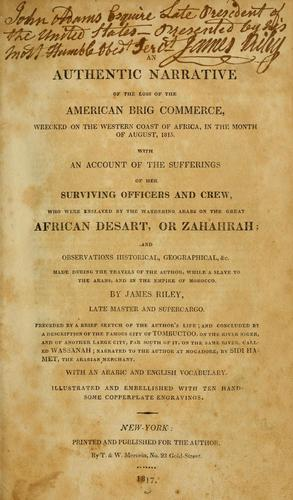 Download An authentic narrative of the loss of the American brig Commerce