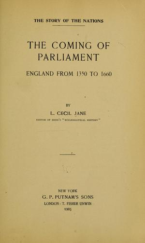 Download The coming of Parliament