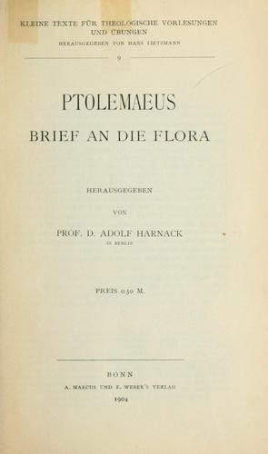 Ptolemaeus Brief an die Flora