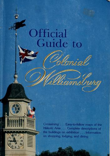 Download Official guide to Colonial Williamsburg