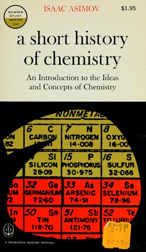 Download A short history of chemistry.