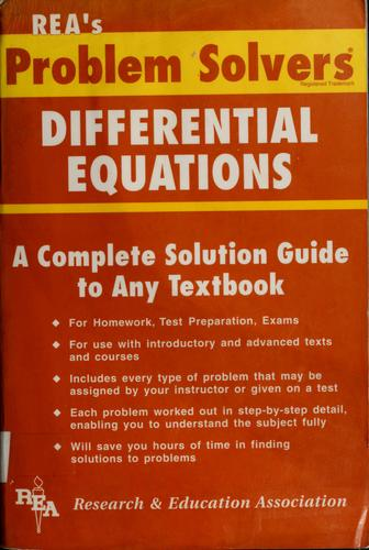 Download The differential equations problem solver