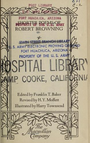 The shorter poems of Robert Browning