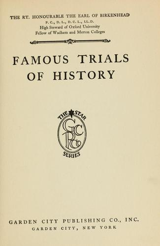 Famous trials of history …